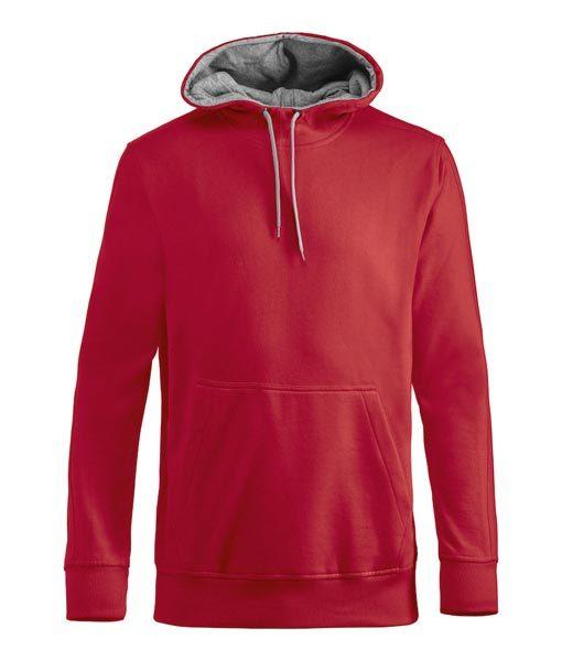 Unisex Kapuzen-Sweater Carmel rot
