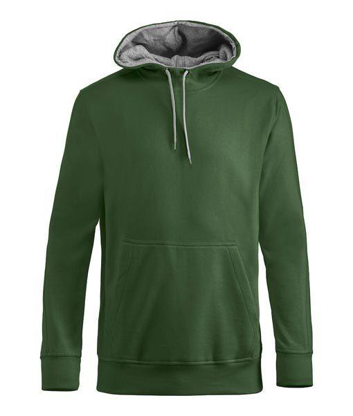 Unisex Kapuzen-Sweater Carmel dunkelgrün