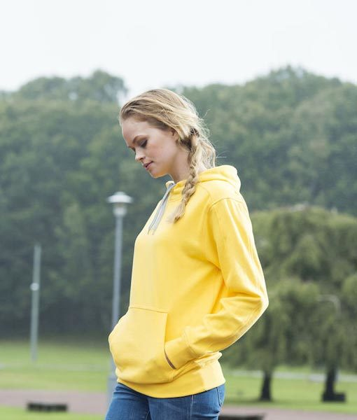 Unisex Kapuzen-Sweater Carmel zitronengelb