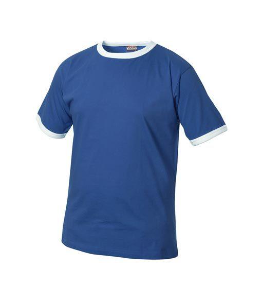 Kinder T-Shirt, weiße Kontrastabschlüsse am Kragen und den Ärmelbündchen