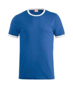 Unisex T-Shirt, Kontrastfarbe an den Abschlüssen des Kragens und der Ärmelbündchen